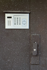 door with intercom