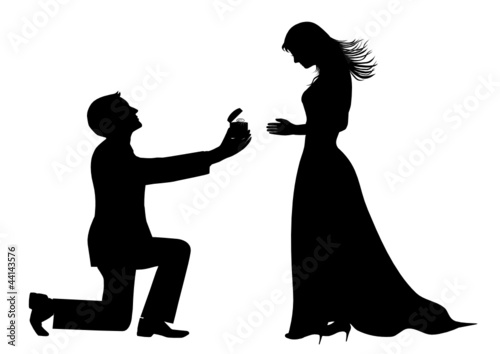 Marriage Proposal Silhouette