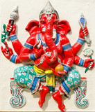 God of success 21 of 32 posture. Indian or Hindu God Ganesha ava