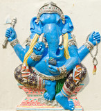 God of success 23 of 32 posture. Indian or Hindu God Ganesha ava