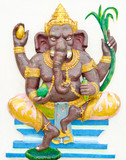 God of success 2 of 32 posture. Indian or Hindu God Ganesha avat
