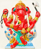 God of success 27 of 32 posture. Indian or Hindu God Ganesha ava