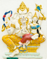 God of success 5 of 32 posture. Indian or Hindu God Ganesha avat
