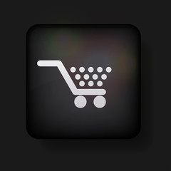 Vector shopping icon on black. Eps10