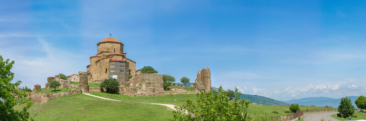 Panorama of Georgian Orthodox church of 6th century, Mtskheta