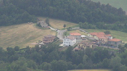 Aerial view of houses in San Marino