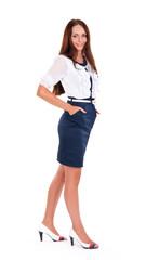 Beautiful European young businesswoman standing