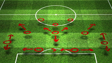 Soccer tactics with slightly flickering light design