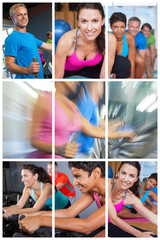 Health and Fitness Montage Men and Women