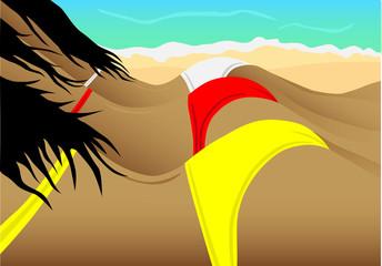 Sunbath in beach