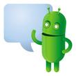 Funny green robot - vector illustration