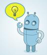 Vector cute robot - idea concept