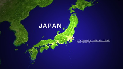 Tokaimura, Japan Nuclear Disaster 1999 animation