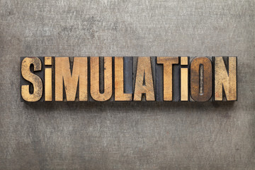 simulation word in wood type