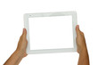 canvas print picture - hands  holding  modern tablet PC