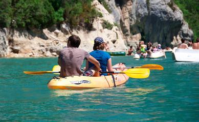 kayak canoe sur lac de sainte croix