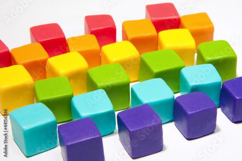 colorful cubes © zakrevski