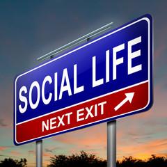 Social life concept.