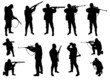 hunters silhouettes collection - vector - 44157740