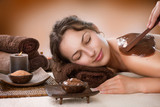 Naklejka Spa Chocolate Mask. Luxury Spa Treatment