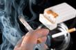 Smokers hand