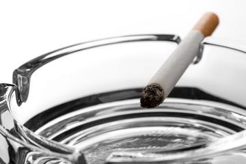 Cigarette on ashtray