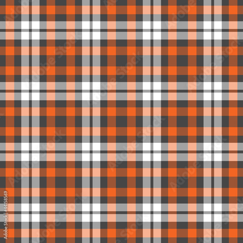 Seamless Orange Plaid