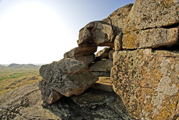 National Park - Stone Tombs. Geological formations