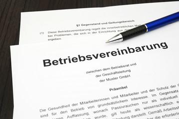 Betriebsvereinbarung Dokument