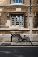 Turl street Oxford sign with parked bicycle