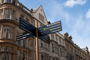 Oxford tourist street sign