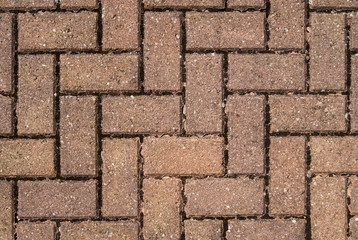 Close up brick zig zag pattern