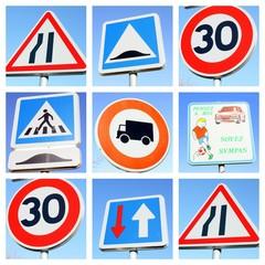 montage,panneaux de signalisation