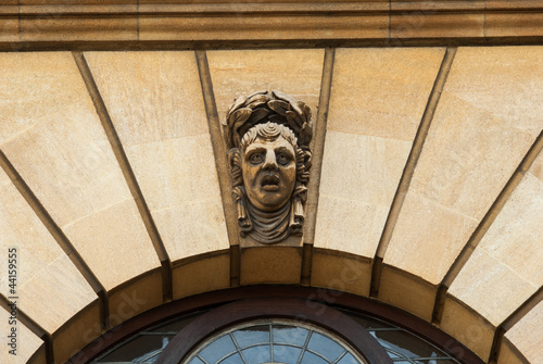Oxford gargoyle above the Sheldonian theatre
