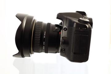Spiegelreflexkamera von der Seite