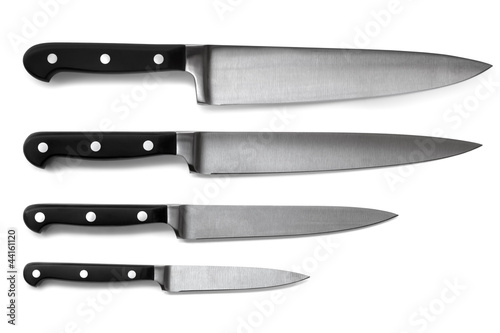 Set of Kitchen Knives Isolated