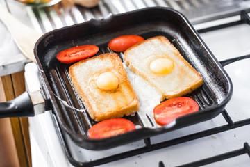 Breakfast on pan