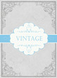 Vintage framed background with label. Vector, EPS10