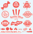 Vector Set: Candy Factory Labels and Badges