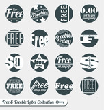 Vector Set: Free and Freebie Labels and Stickers