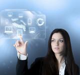 Technology virtual interface - Fine Art prints