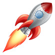 Cartoon rocket space ship - 44164984
