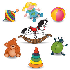 Set of baby's toys
