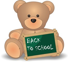 back to school - teddy bear