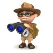 3d Explorer uses his excellent binoculars