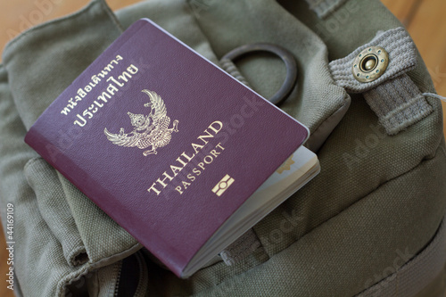 Thailand Passport and bag