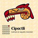 Aztec calendar symbols - Cipactli or caiman (1)