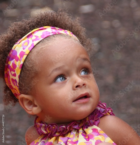 Mixed Newborn Baby Girls With Blue Eyes Blue eyed mixed heritage baby
