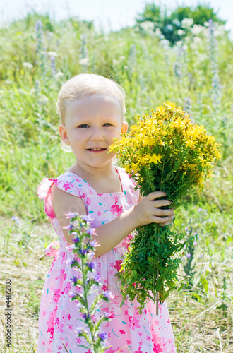 The little girl in wildflowers