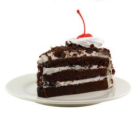 Beautiful tasty chocolate cake close up shoot